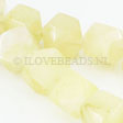 JADE GEMSTONES BEADS - BIG YELLOW FACETED JADE 16MM